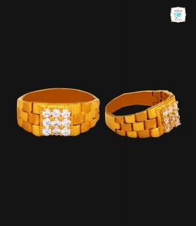 Rolex Motif Gold Ring - 0362