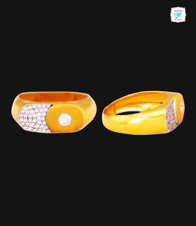 Sparkle Zircon Gold Ring -...