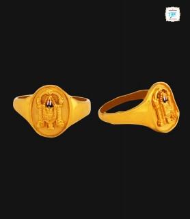 Srinivasa Gold Ring - 0386
