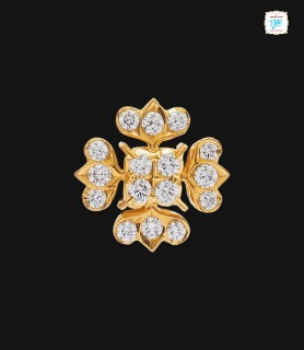 Golden Floret Diamond Stud...