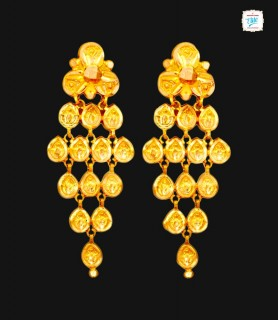 Floret Leaf Gold Drops -0187