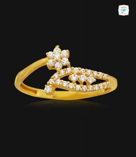 Delicate Bloomy Gold Ring -...