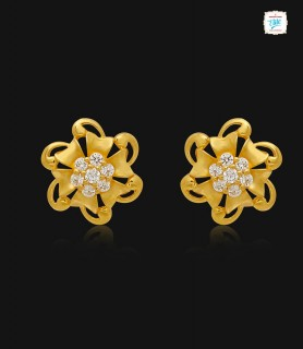 Sylvan Blossom Gold Stud -...