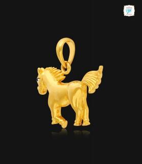 Stallion Gold Pendant - 0971