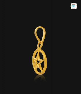 Pentacle Gold Pendant - 0999