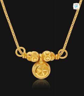 Ethnic Gold Pendant - 1001