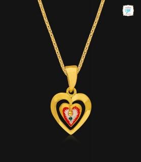 Heart throb Gold pendant -...