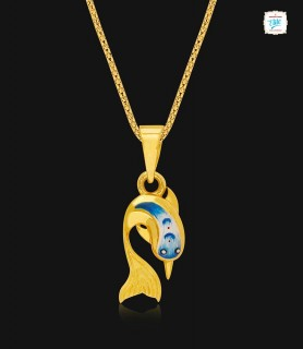 Twisted Dive Dolphin Gold...
