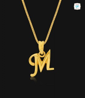 Mythical M Gold Pendant - 1011