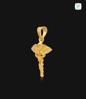 Caduceus Gold Pendant - 1013
