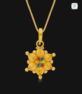 Gossypium Gold Pendant - 1017
