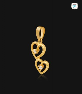 Twin Hearts Gold Pendant -...