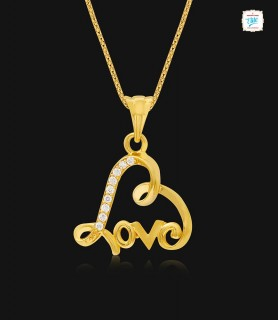 Hearty Love Gold Pendant -...