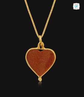 Glittering Heart Gold...