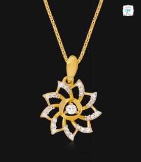 Pretty Anemone Gold Pendant...