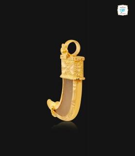 Tiger Nail Gold Pendant - 1051