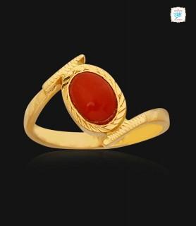Corallium Gold Ring - 1085
