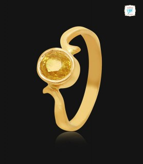Yellow Sapphire Gold Ring -...