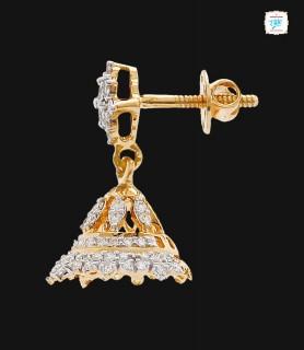 Floret Diamond Jhumka - 0057