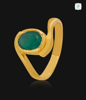 Emerald Gold Ring - 1093