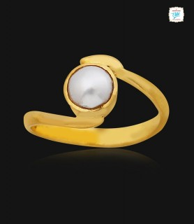 Pearl Gold Ring - 1095
