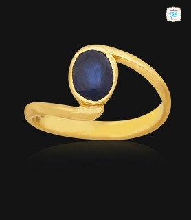 Blue sapphire Gold Ring - 1097