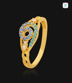 Swirl Chain Gold Ring - 1129