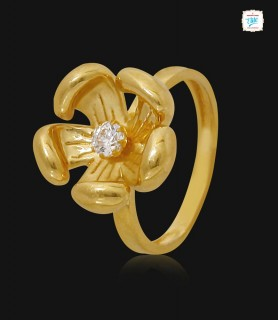 Orchid Gold Ring - 1131