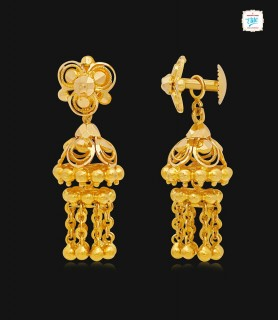 Floral Chime Drop Gold...