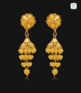 Elegant Floral Gold Jhumka...