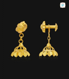 Trendy Leaflet Gold Jhumka...