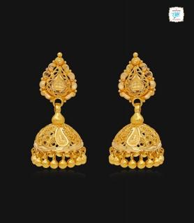Aabarna Gold Jhumka-1143