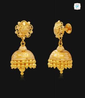 Kudamattam Gold Jhumka-1147