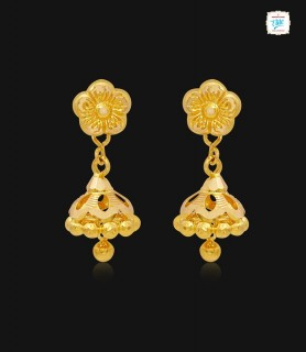 Lily Bud Gold Jhumka-1151