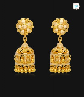 Fanous latern Gold Jhumka-1165