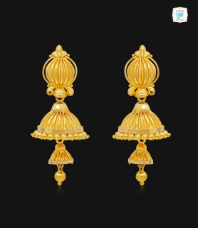 Strip Dome Gold Jhumka-1169