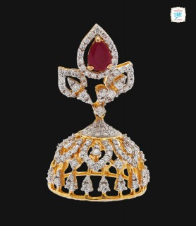 Triple Pear Diamond Jhumka...