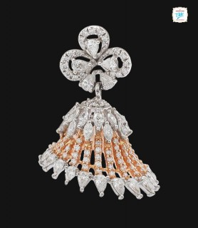 Bowknot Diamond Jhumka - 0063