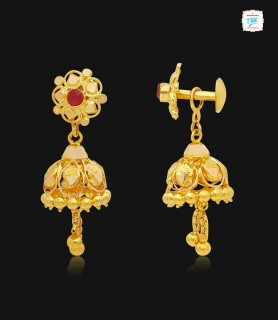 Chain Drop Gold Jhumka-1245