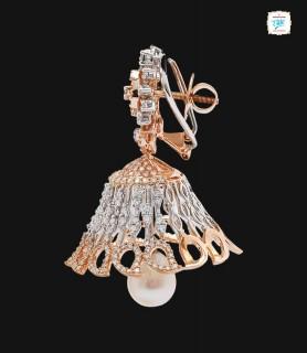 Zahira Diamond Jhumka - 0067