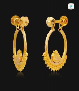 Tweety Gold Huggie Earring...