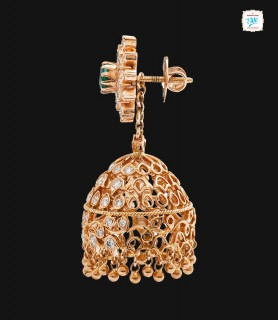 Sunrising Diamond Jhumka -...