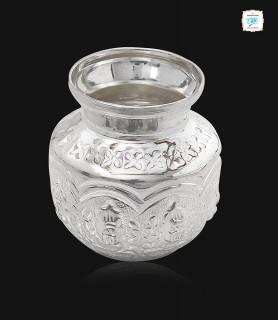 Floral Silver Kalasa Sombu...