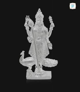 Lord Muruga Silver Idol -1507
