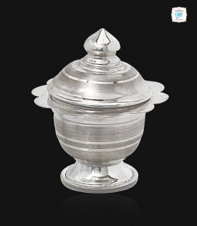Plain Silver Kum Kum Box -1525