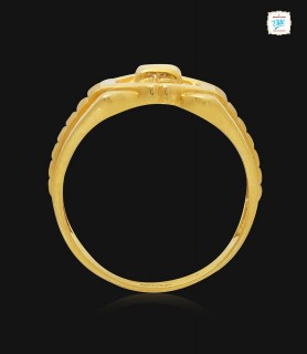 Tied Hexagon gold ring -1615