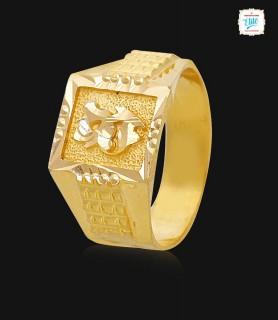 Elegant Floral Men's gold...