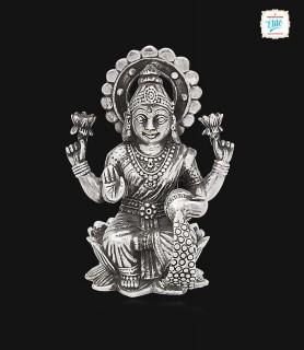 Goddess Sri Lakshmi Silver...