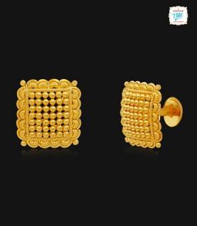 Bejeweled Quads Gold Stud -...