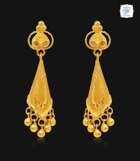 Pretty Cone Gold Earring -...